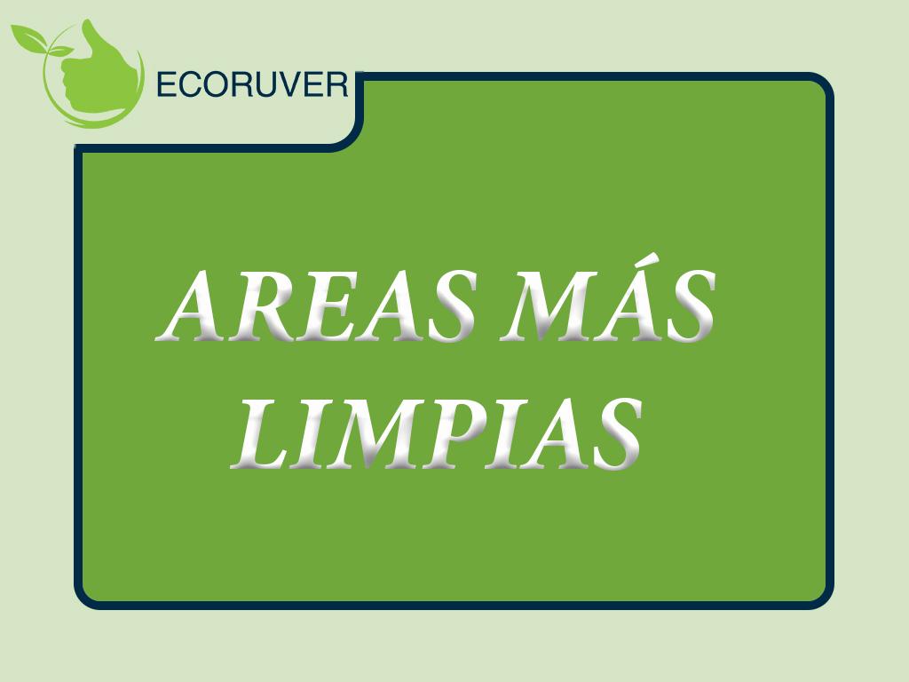 AREAS MAS LIMPIAS